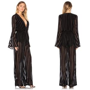 NWT House of Harlow Revolve Pam Striped Jumpsuit